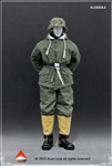 SS and Wehrmacht (Green) Snow Reversible Cotton Padded Jacket Set - Alert Line