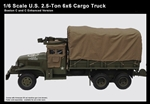 Enhanced 1/6 scale metal collectible of World War II-era 2.5-ton US Army Truck Deuce and a Half.