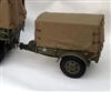WWII G-518 Ben-Hur Cargo Trailer - BCC 1/6 Scale Vehicle Accessory
