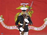 Dress Blue Marine with M1 Garand