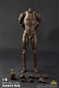 "Afican American Standard Male Body with Narrow Shoulders in 10.6"" Tall"