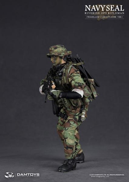 navy seal riverine ops rifleman woodland camo version