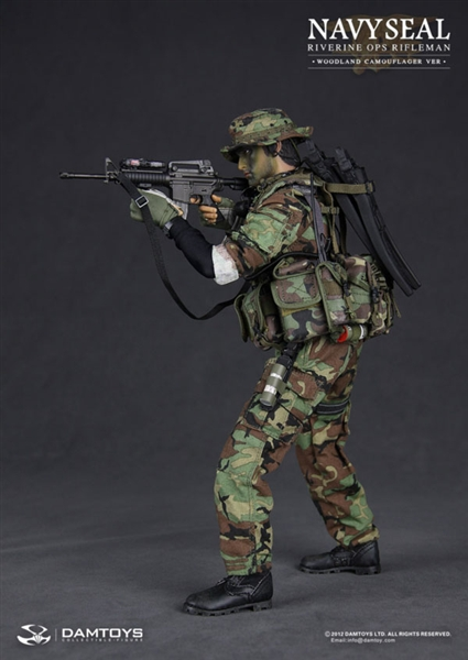 Navy Seal Riverine Ops Rifleman Woodland Camo Version