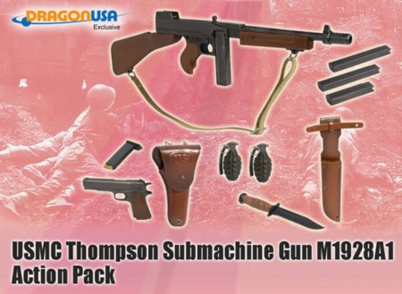 USMC Thompson Submachine Gun M1928A1 Action Pack Accessory Set
