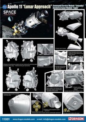 Dragon Apollo 11 Csm And Lander 1 72 Model Kit
