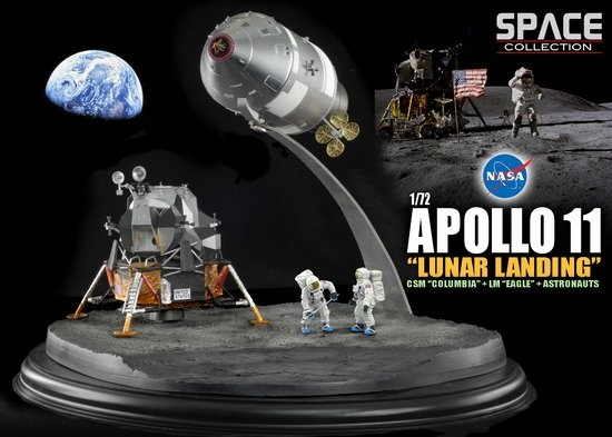 "1/72 NASA Apollo 11 ""Lunar Landing"" CSM ""Columbia"" + LM ..."