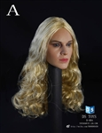 Female Headsculpt with Long Curly Hair - Curly Version - 1/6 Scale