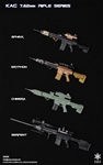 KAC 7.62mm Rifle - Four Versions - Easy and Simple 1/6 Scale Accessory