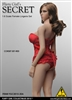 Corset Lingerie Set in Red - Flirty Girl 1/6 Scale