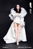White Evening Lingerie and Robe - 1/6 Accessory Set