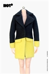 Cashmere Coat in Yellow- 1/6 Accessory Set