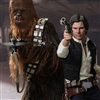 Han Solo and Chewbacca - Hot Toys Star Wars 1/6 Scale Figure Set