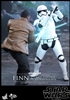 Finn and First Order Riot Control Stormtrooper - Hot Toys MMS Sixth Scale Figure Set 902626
