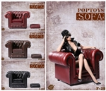 British Single Sofa in Three Color Options -  POP Toys 1/6 Scale
