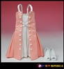 Fit and Flare Dress in Pink - Play Toy 1/6 Scale Accessory
