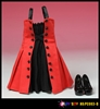 Fit and Flare Dress in Red - Play Toy 1/6 Scale Accessory