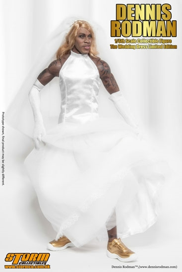 Dennis rodman for 3rd time wedding dresses
