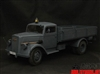 Opel Blitz Truck in Panzer Gray - Toy Model 1/6 Scale Metal Vehicle