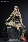Villa - MC Camouflage Female Soldier - Very Cool 1/6 Scale Figure