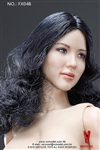 Asian Female Body with Head - Very Cool 1/6 Scale - Curled Hair Version B