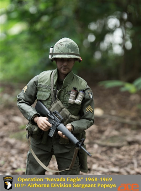 "101st Airborne Division - Operation ""Nevada Eagle"" - US Vietnam War - Ace Toys 1/6 Scale Figure"