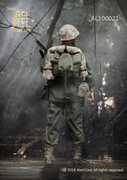 1//6 Scale Alert Line Action Figures WWII USMC BAR Gunner BAR Machine Gun