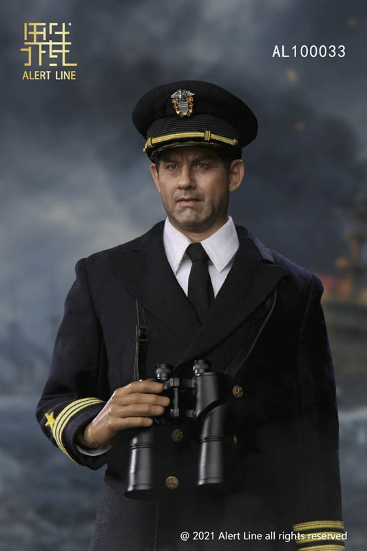 WWII U.S.NAVY Destroyer Commander - Alert Line 1/6 Scale Figure