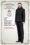 Black Two-Button Suit Set - AC Play 1/6 Scale Accessory