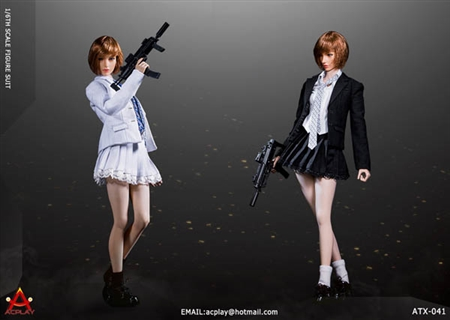 Battle Girl Uniform - Two Color Options - AC Play 1/6 Scale Accessory
