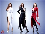 Fashionable Deep V-Neck Trench Coat - Three Color Options - AC Play 1/6 Scale Accessory