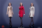 Female Short Trench Coat Set - Three Color Options - AC Play 1/6 Scale Accessory