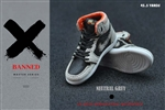 Sneakers - Neutral Grey & Black - Banned 1/6 Scale Accessory
