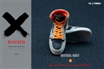Sneakers - Neutral Grey & Orange - Banned 1/6 Scale Accessory
