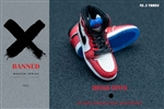 Sneakers - Red & Crystal - Banned 1/6 Scale Accessory