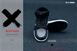 Sneakers - Black - Banned 1/6 Scale Accessory