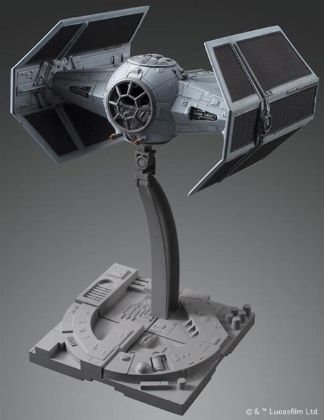 Tie Advanced Fighter Bandai Star Wars 1 72 Plastic Model