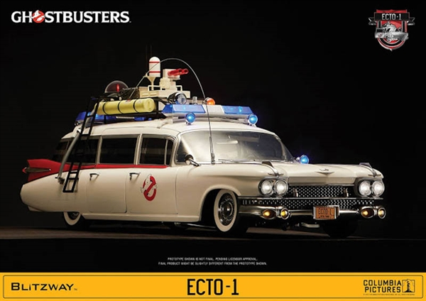ecto 1 ghostbusters blitzway 1 6 scale vehicle. Black Bedroom Furniture Sets. Home Design Ideas