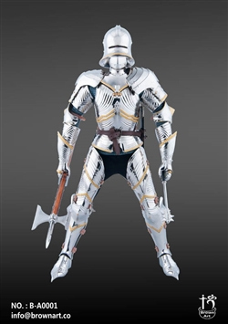 Gothic Armor Set in Silver - Brown Art 1/6 Scale