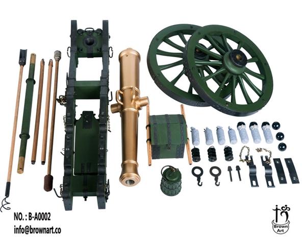 French Gribeauval Cannon - 12 Pounder - Napoleonic Era -
