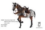 Armored Horse - Duke of Saxony-Coburg - Sixteenth Century - Brown Art 1/6 Scale Accessory
