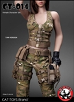 Military Female Accessory Set in Tan - CAT Toys 1/6 Scale Accessory