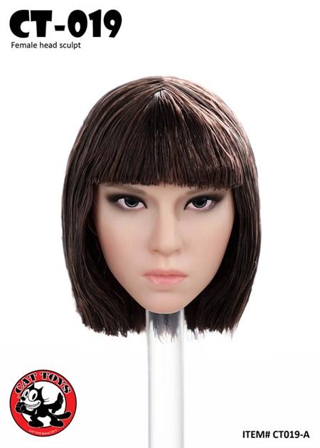 Asian Female Head Sculpture Version A