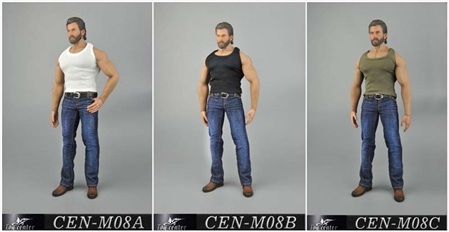Tank & Jeans Set for Men - Three Color Options - Toy Center 1/6 Scale Accessory
