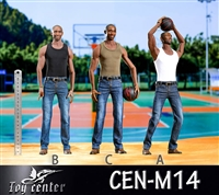 Basketball Jeans Set - Three Style Options - Toy Center 1/6 Scale Accessory
