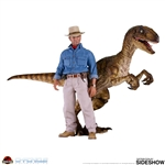 Dr. Alan Grant and Velociraptor - Jurassic Park - Chronicle Collectibles 1/6 Scale Figure