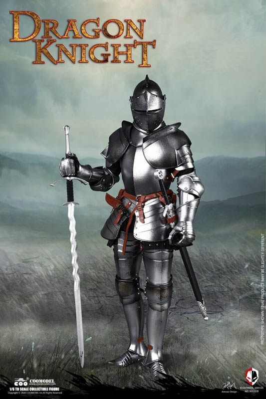 Details about  /1//6 Scale Toy Dragon Knight Metal Broadsword