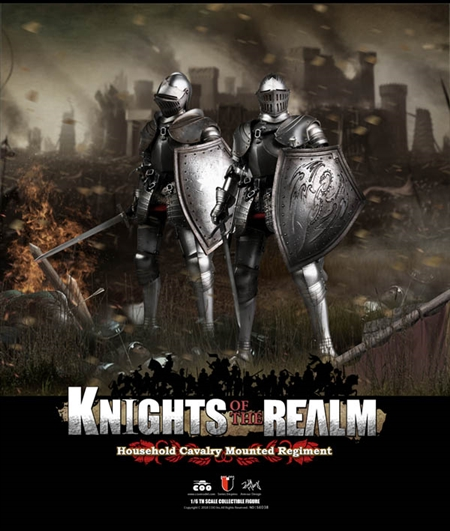 Household Cavalry Mounted Regiment Double Figure Set - Die-cast Alloy - Knights of the Realm Series of Empires - COO Model 1/6 Figure