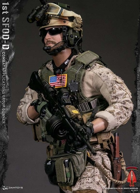 Headlamp for DAMTOYS DAM 78074 1st SFOD-D Combat Applications Group GUNNER 1//6th