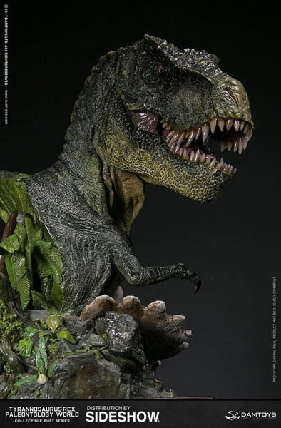 T-Rex Bust - Green - Dam Toys Museum Collection Series