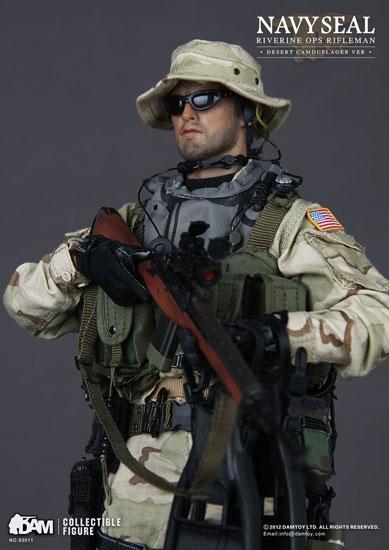 NAVY SEAL Riverine Ops Rifleman Desert Camouflage Version